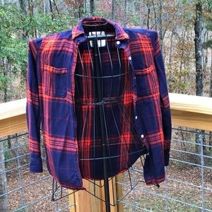 Mossimo Boyfriend Fit Plaid Shirt Size XS